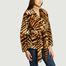 Manteau court effet fourrure motif tigre Tiffany - Stand Studio
