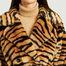 matière Manteau court effet fourrure motif tigre Tiffany - Stand Studio