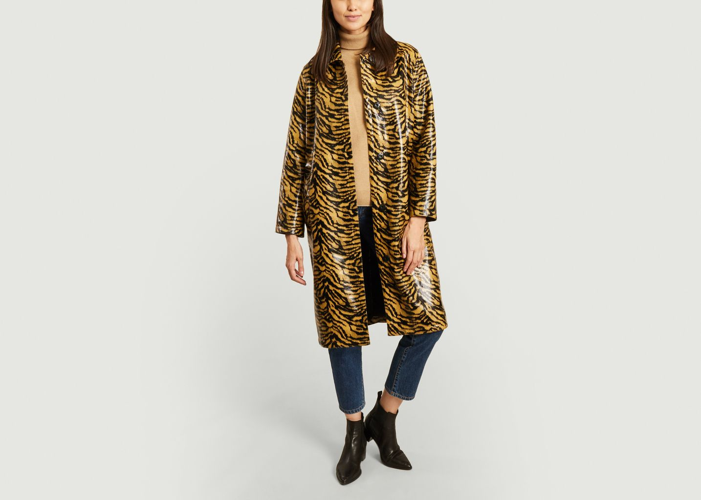 Manteau effet cuir motif zébré Elyssa - Stand Studio