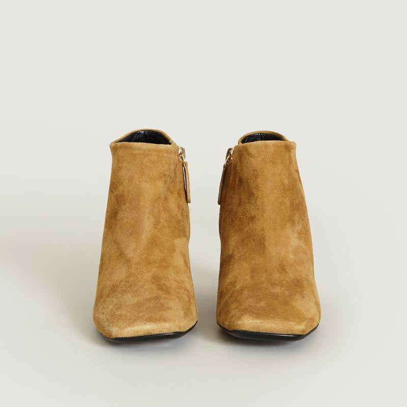 Bottines zip intérieur talon recouvert femme Camel 3 SUISSES