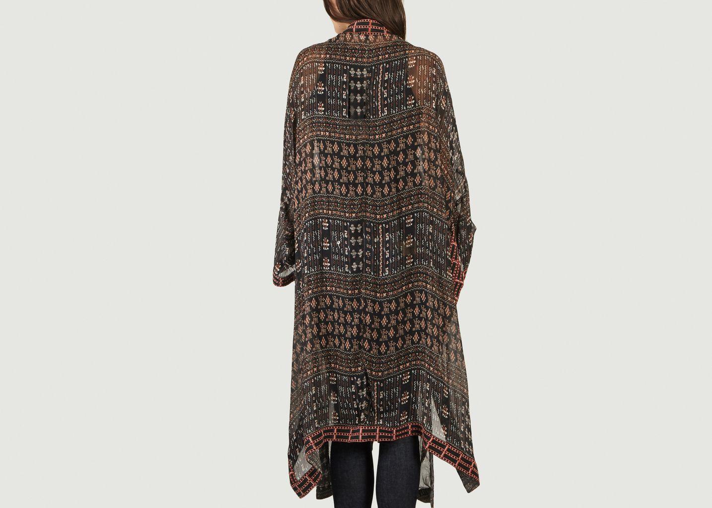 Kimono Motif Ikat Tarma - Stéphanie Vaillé
