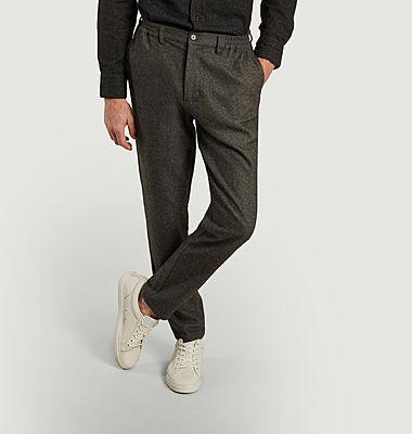 Pantalon droit en lainage Gilbert
