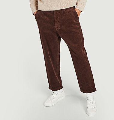 Pantalon loose en velours côtelé Toby