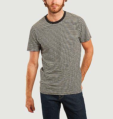 T-shirt rayé en coton bio Kyle