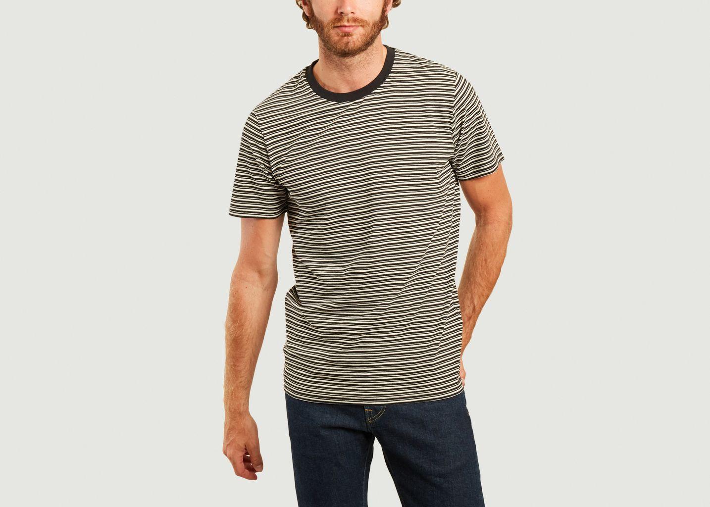 T-shirt rayé en coton bio Kyle - SUIT
