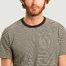 matière T-shirt rayé en coton bio Kyle - SUIT