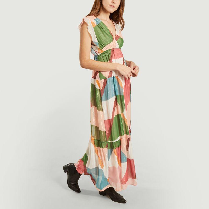Robe longue Cassidy Bois de Rose  - Suncoo