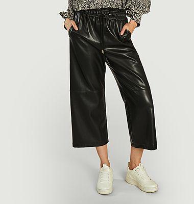 Pantalon large 7/8e effet cuir Jimbo