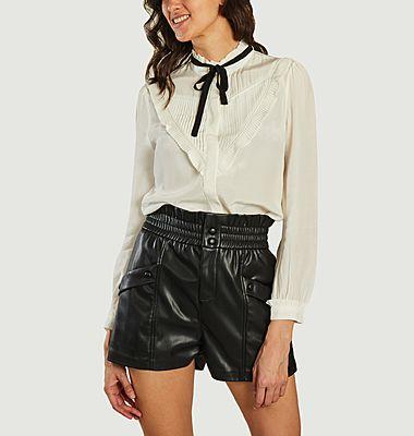Lady lavallière collar shirt