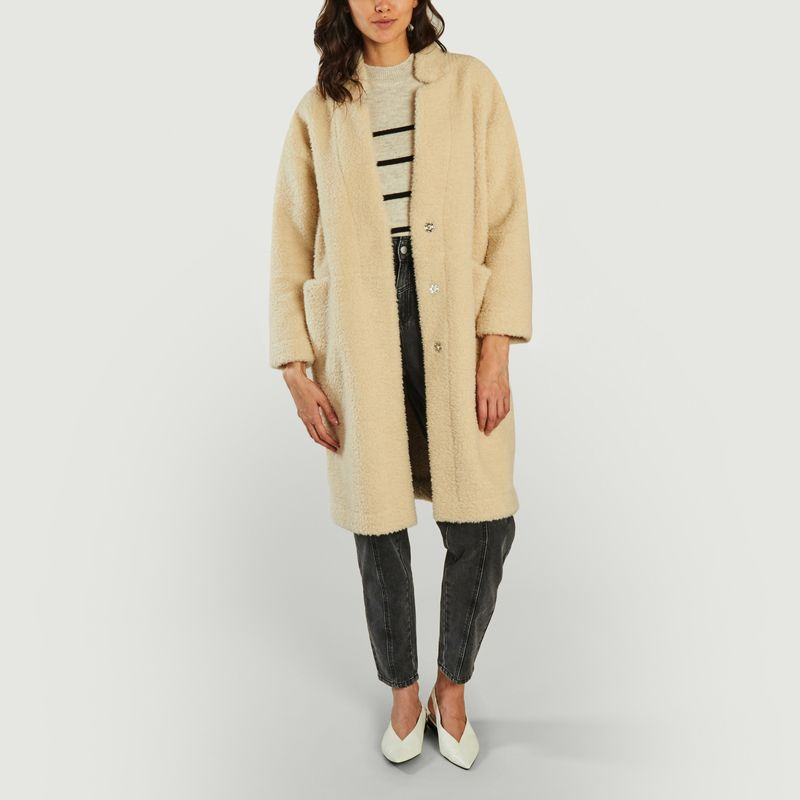 Manteau effet fourrure Elmi - Suncoo