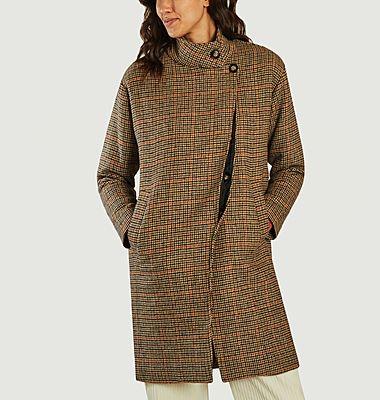 Schottland Mantel mit hohem Kragen mit Prince-of-Wales-Muster
