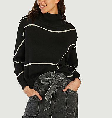 Paxton high collar geometric pattern oversized sweater