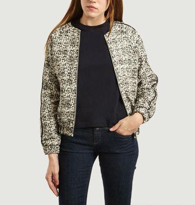 Dora fancy pattern bomber jacket