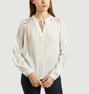 Lavina long sleeves openwork blouse
