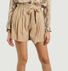 Beryl high waist belted shorts