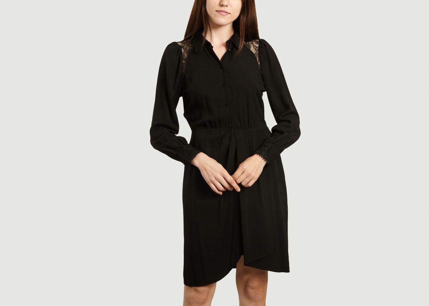 Robe Caroline à détails dentelle - Suncoo