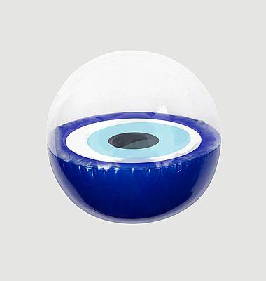 Inflatable Beach Ball Greek Eye - Electric Blue