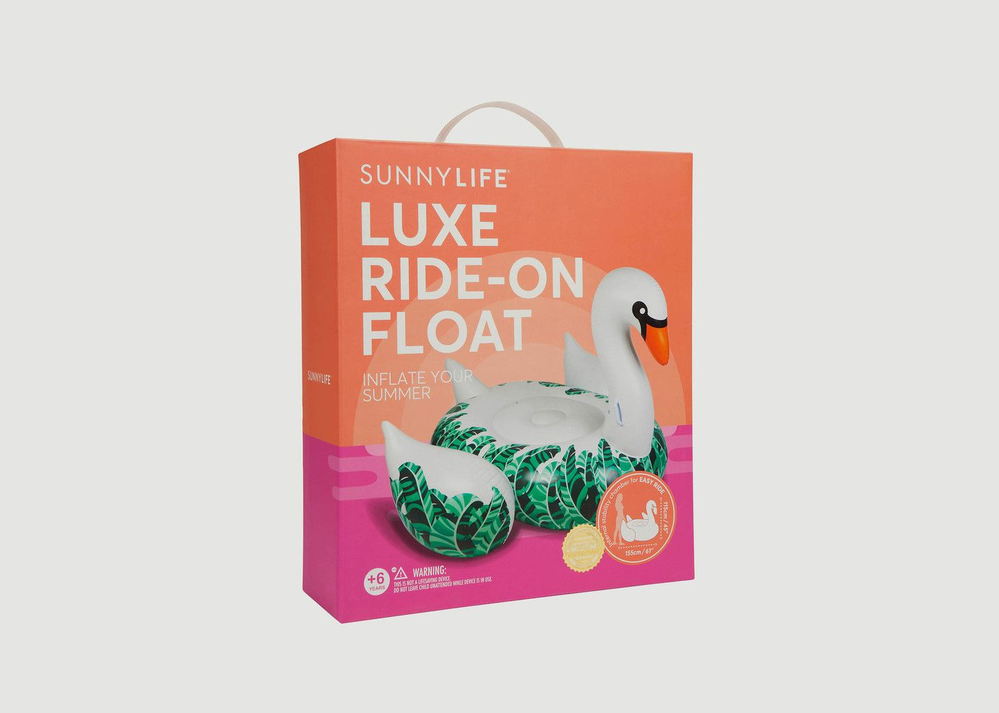 Bouée Cygne avec Feuilles Bananier - Sunny Life