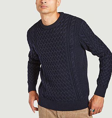 Pull torsadé en laine mérinos