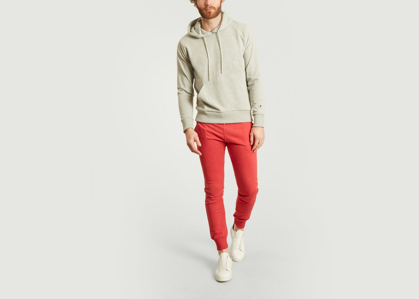 pantalon terry slim sweet pants rouge l 39 exception. Black Bedroom Furniture Sets. Home Design Ideas