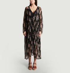 Vanda Floral Printed Lurex Dress
