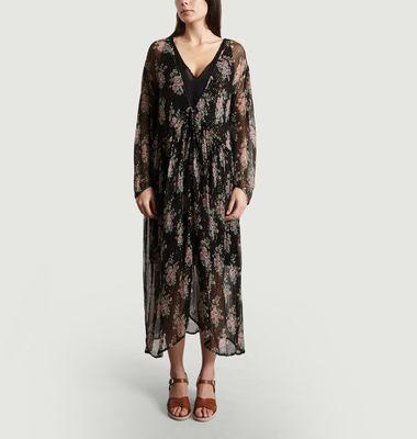 Robe Print Fleuri Lurex Vanda