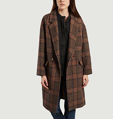 Eskimo checked long coat