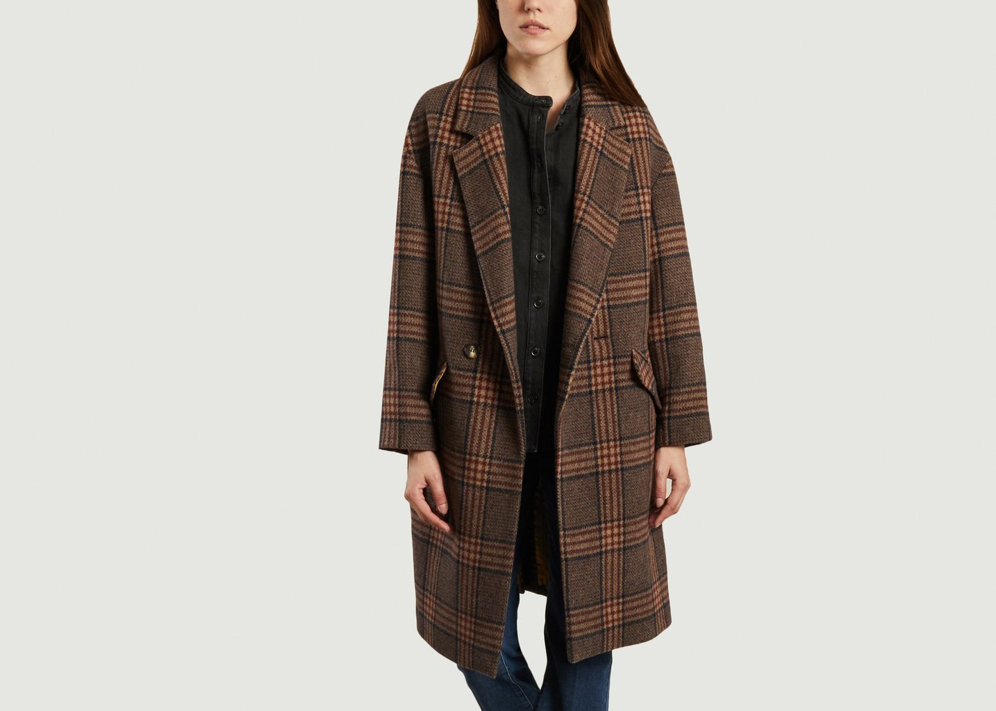 Manteau long à carreaux Eskimo - Swildens