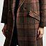 matière Manteau long à carreaux Eskimo - Swildens