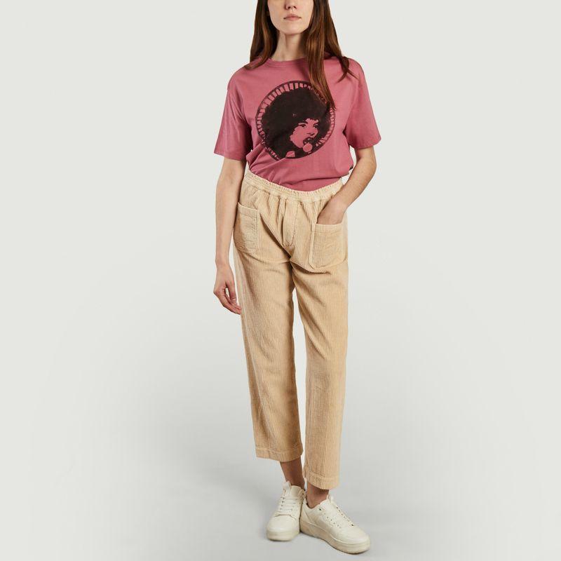 Pantalon ample 7/8e en velours côtelé Elugo - Swildens