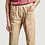 matière Pantalon ample 7/8e en velours côtelé Elugo - Swildens