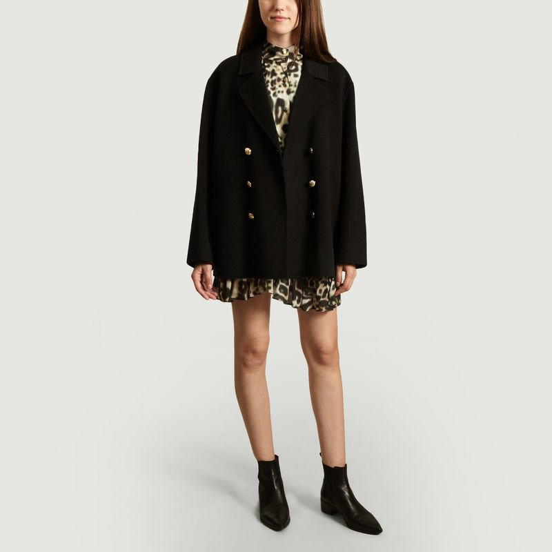 Manteau court caban oversize Caliope - Swildens