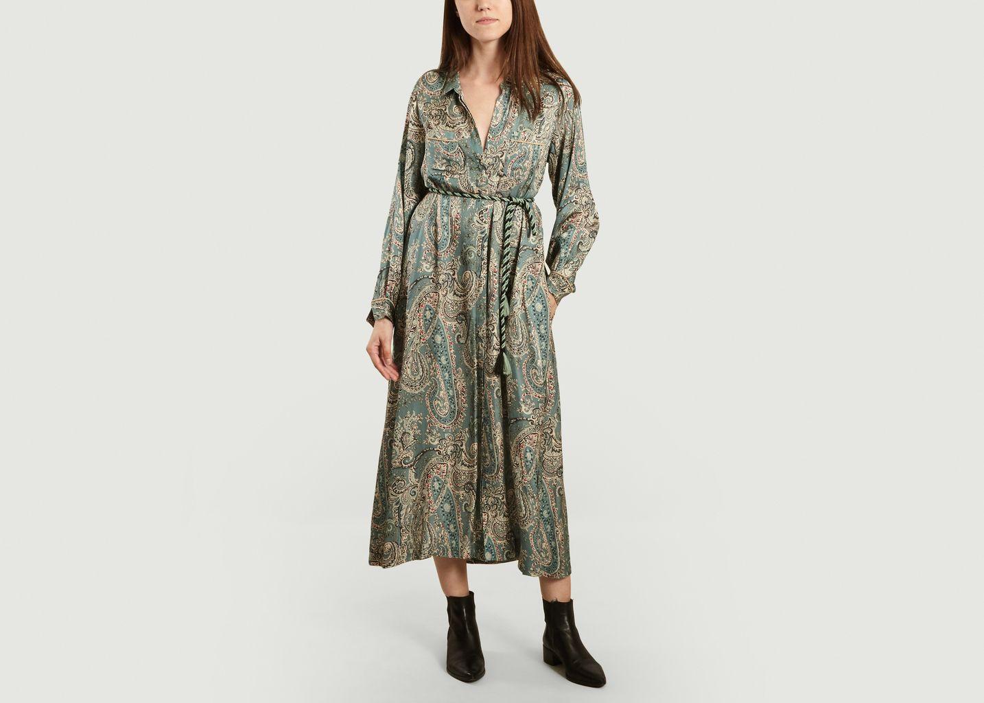 Robe-chemise longue imprimé cachemire Chine - Swildens