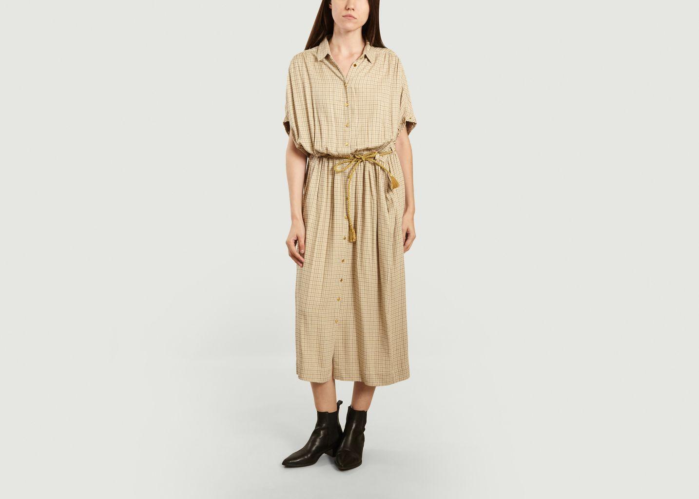 Robe-chemise longue à carreaux Cathie - Swildens