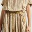 matière Robe-chemise longue à carreaux Cathie - Swildens