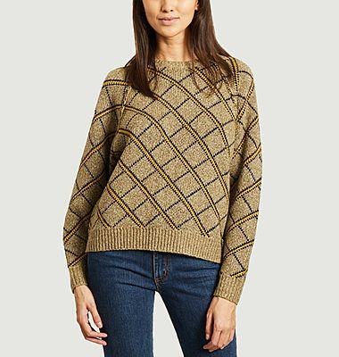 Carmin diamond jacquard parttern sweater