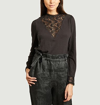 Cyriel long sleeves top with lace