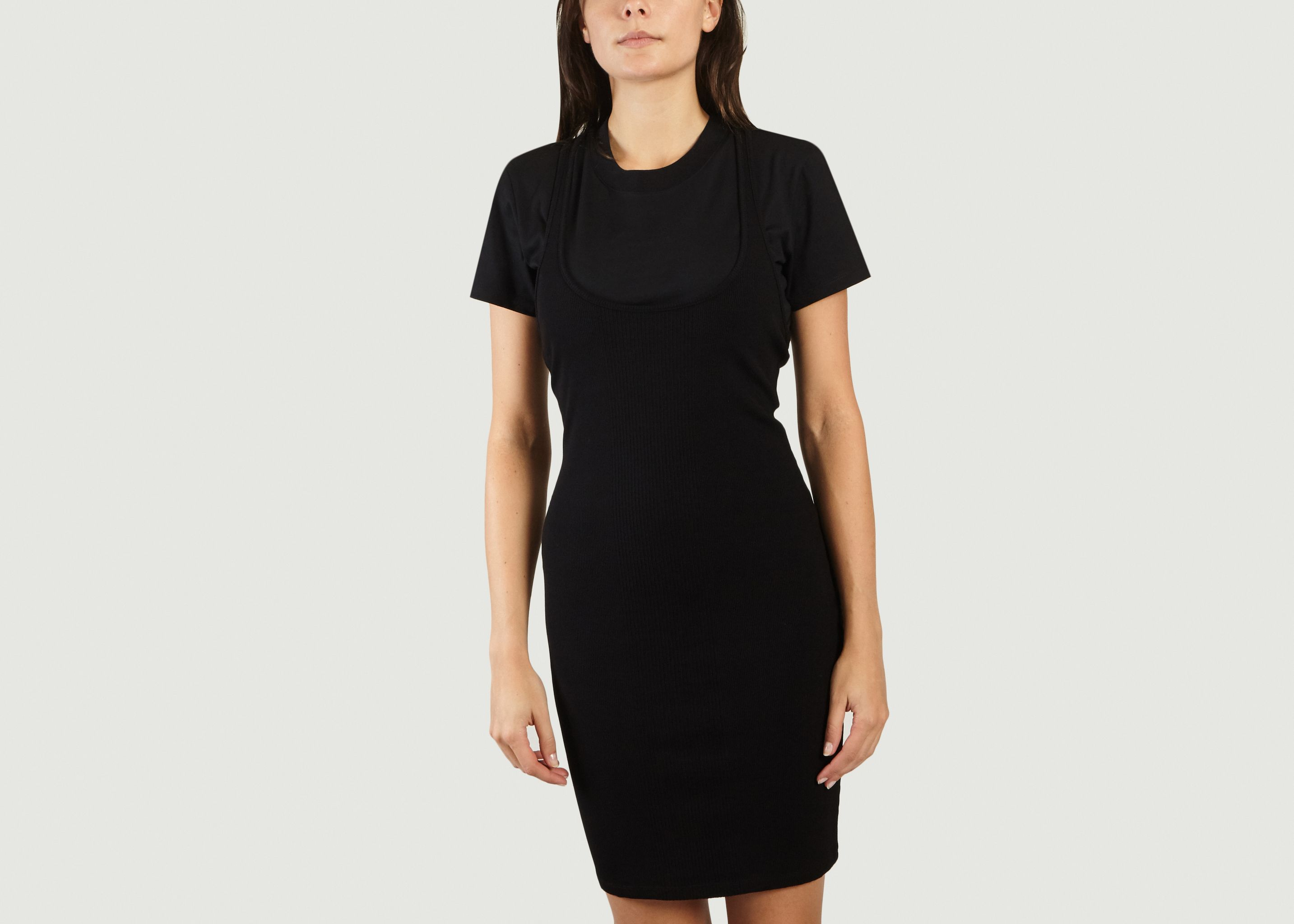 9b61bea6c8 Double Lined T-shirt Dress Black T by Alexander Wang | L'Exception