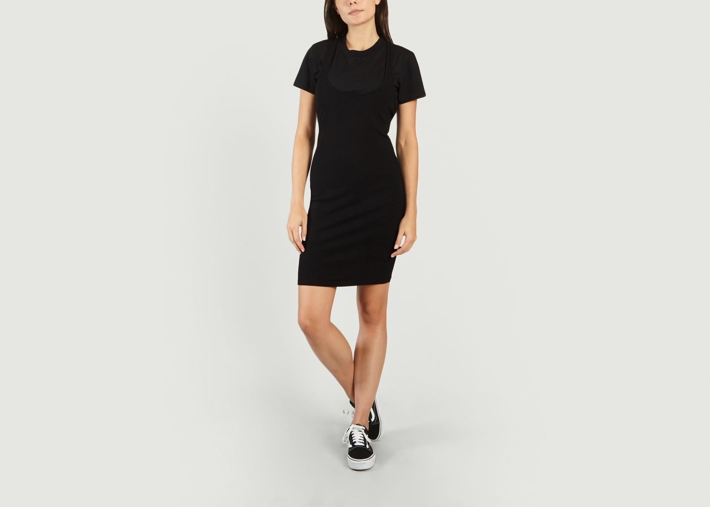 Sale Double Lined T Shirt Dress Black T By Alexander Wang At 50