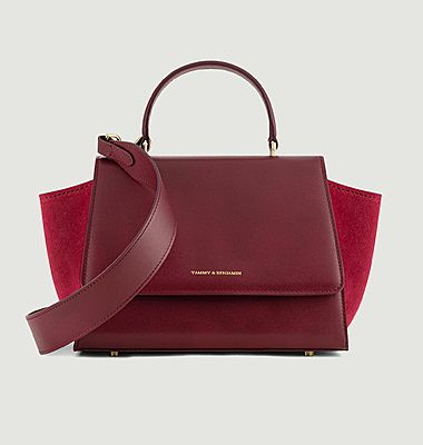 Alexia Mini bi-material leather bag