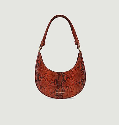 Luna python effect leather bag