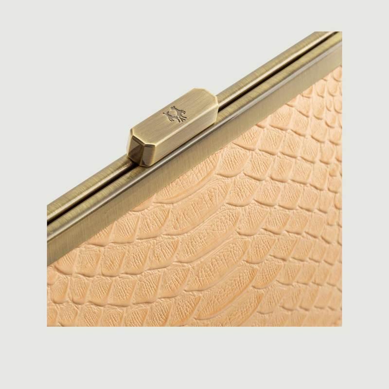 Sac pochette en cuir effet croco Jeanne baguette - Tammy & Benjamin