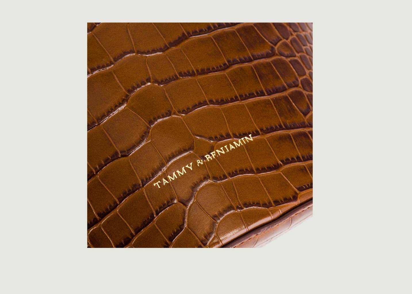 Sac en cuir effet croco Bucket - Tammy & Benjamin