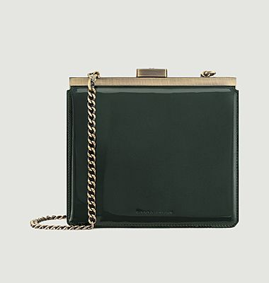 Jeanne leather clutch bag