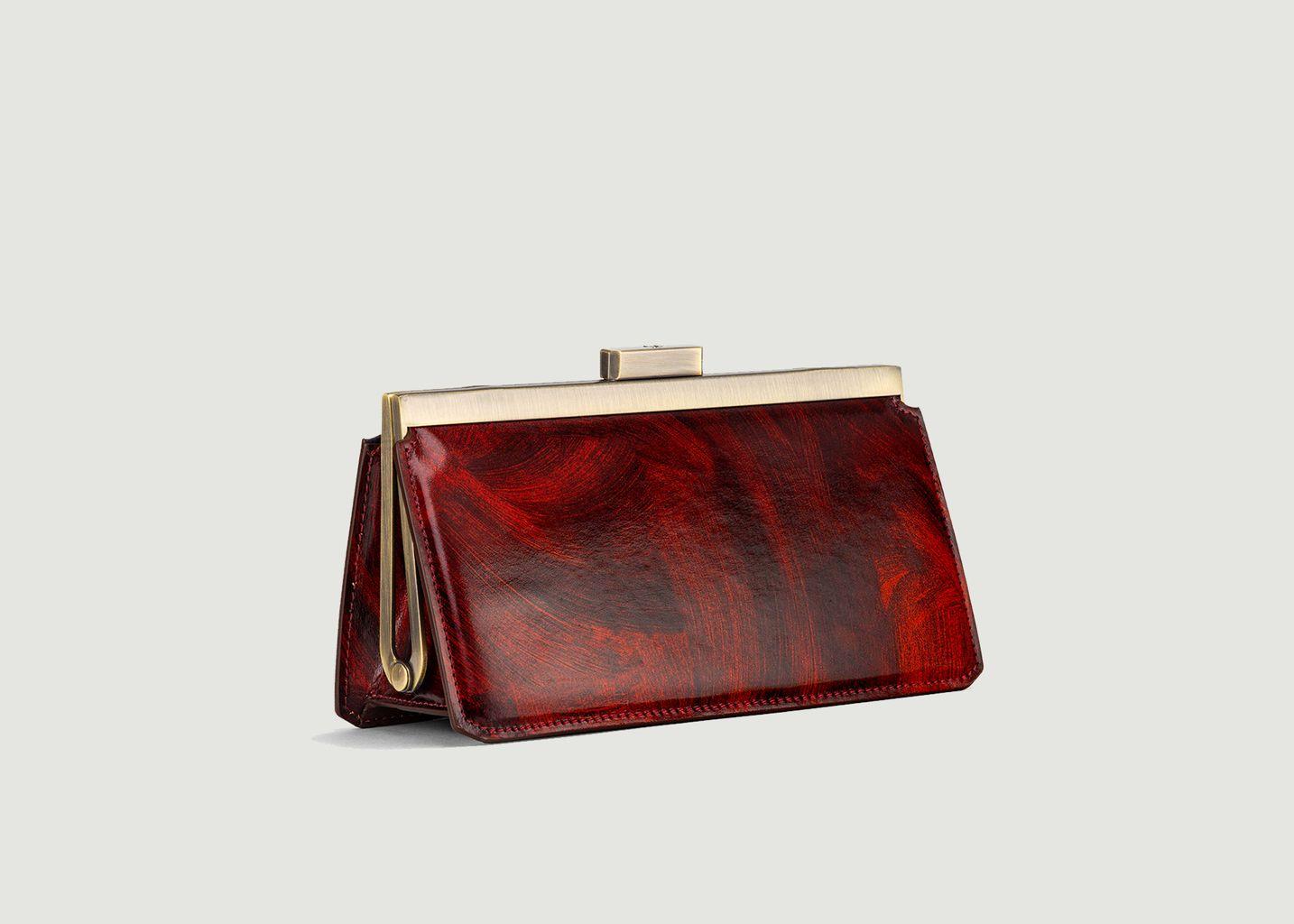 Sac pochette en cuir effet marbre Jeanne Baguette - Tammy & Benjamin