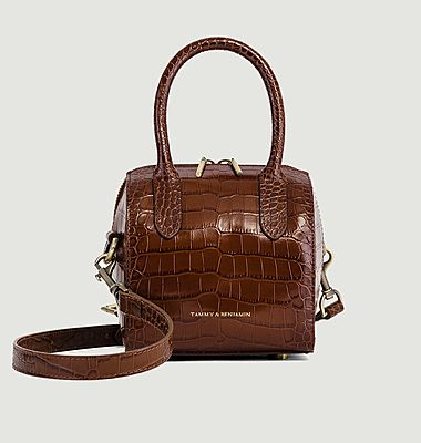 Boston Mini croco effect leather bag