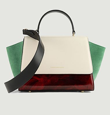 Sac en cuir Alexia Mini Colourblock Art Déco