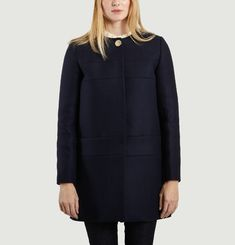 Collarless Pea Coat