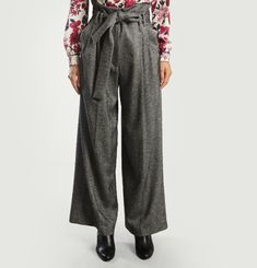 Pantalon Large Chevrons