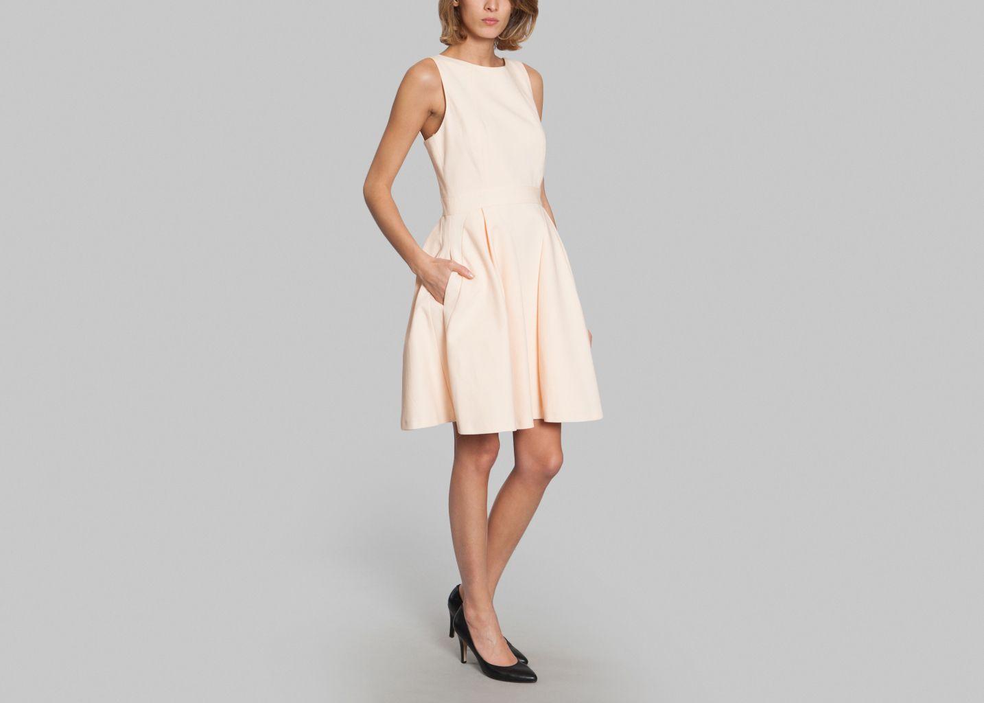 Fabuleux Ottoman Dress Tara Jarmon Peach L'Exception ZA74